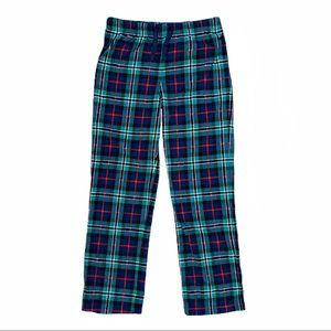 Old Navy green & blue plaid fleece pajama pants